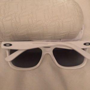 Men's White Oakley Sunglasses